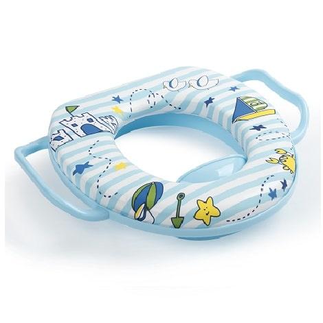 מושב אסלה מרופד לילדים - כחול