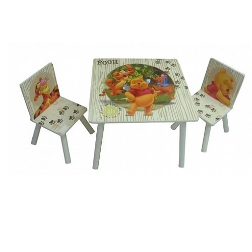 כסא ושולחן עץ לילדים פו הדב, Disney
