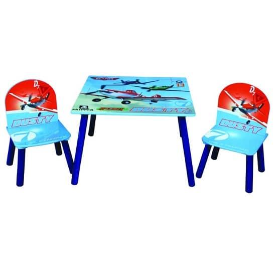 כיסא ושולחן עץ לילדים מטוסים, Disney