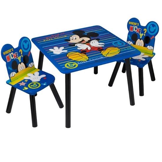 כיסא ושולחן לילדים מעץ מיקי מאוס, Disney