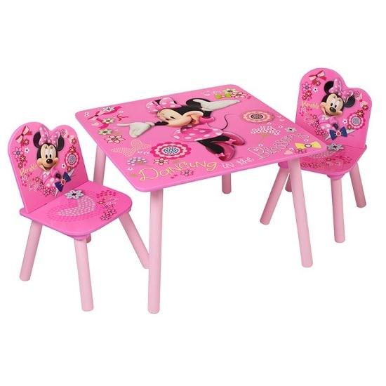 כיסא ושולחן עץ לילדים מיני מאוס, Disney
