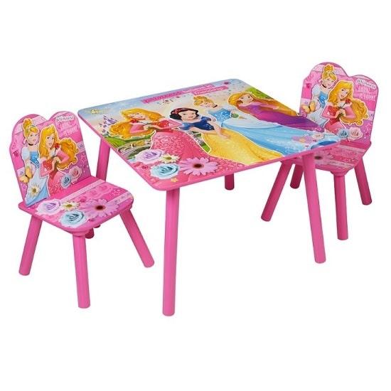 כיסא ושולחן עץ לילדים נסיכות, Disney