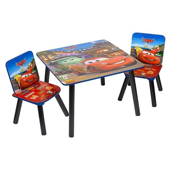 כסא ושולחן עץ לילדים של מכוניות, Disney