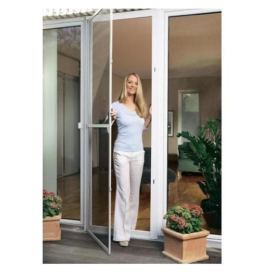 דלת + רשת להתקנה עצמית מבית TESA - לבן