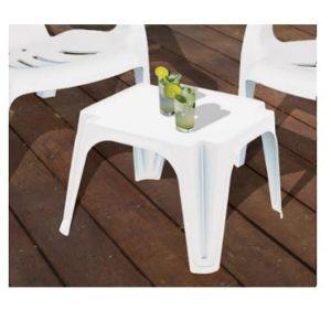 שולחן צד לבן