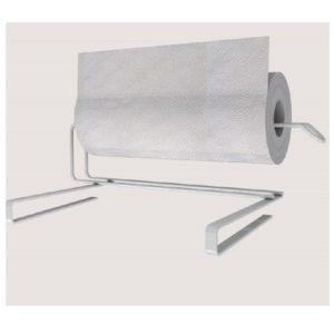 מעמד מתכת לנייר מגבת לבן