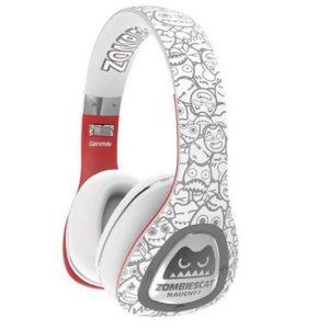 אוזניות דגם OVER-EAR BT מבית miracase- לבן
