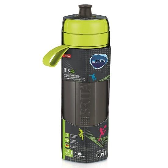 בקבוק ספורט לסינון מים BRITA fill&go - צבע ליים