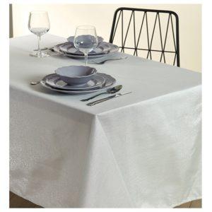 מפת שולחן- דגם לורקס 160X400 מביתHOMESTYLE - לבן