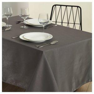 מפת שולחן- דגם לורקס 160X400 מביתHOMESTYLE - אפור כהה