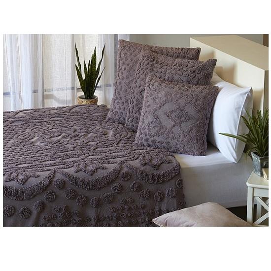 כיסוי מיטה זוגי דגם ג'ורג'יה מביתHOMESTYLE - אפור