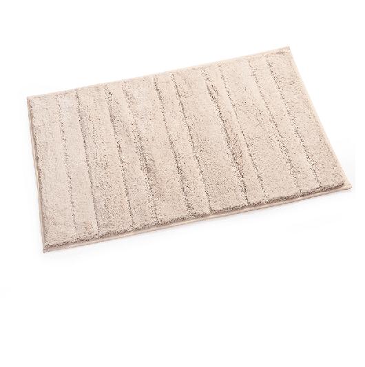 שטיח לאמבטיה מיקרופייבר פסים בז' 80*50