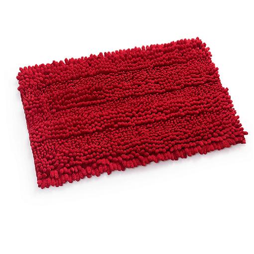 שטיח שאגי לאמבטיה קלאסי אדום 60*40