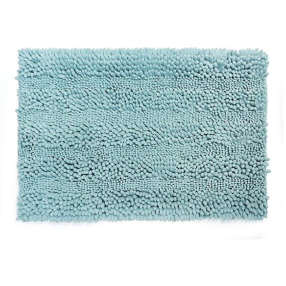 שטיח שאגי לאמבטיה קלאסי תכלת 60*40
