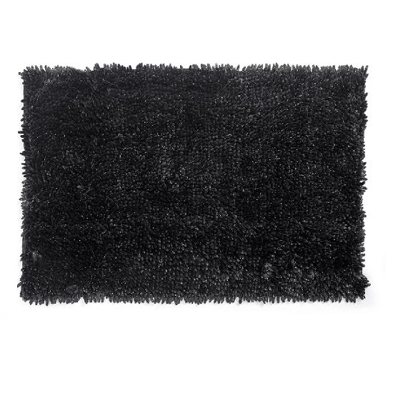 שטיח שאגי לאמבטיה פנינה מבריק 60*40 - צבע אפור
