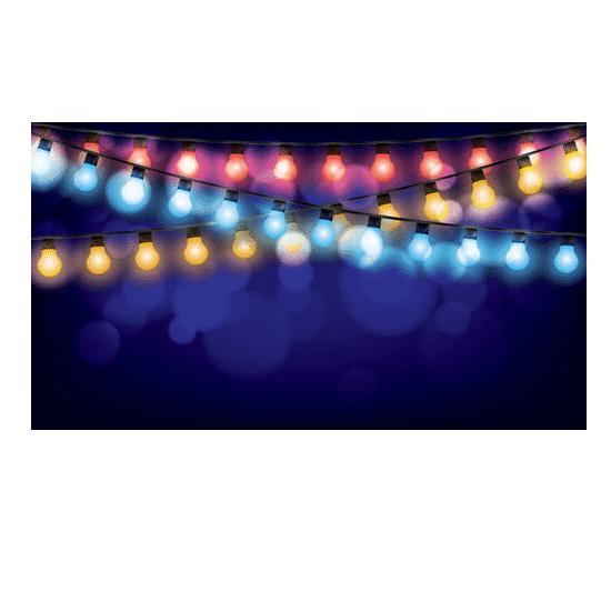 גרלנדה 5 מטר בבליסטר, 5 בתי מנורה