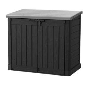 ארגז אחסון כתר פלסטיק מחסן גינה מקס 14682 - שחור