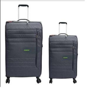 זוג מזוודות American Tourister - צבע שחור