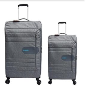 זוג מזוודות American Tourister - צבע אפור