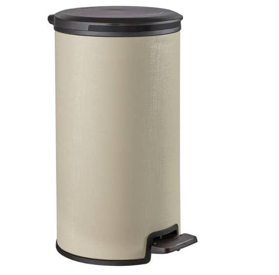 פח פדל עגול 30 ליטר פויל -קרם