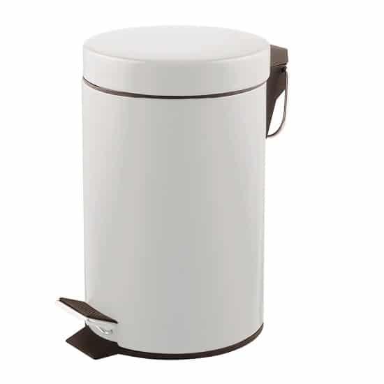 פח אשפה עגול 3 ליטר צבע לבן מט מבית SPLASH