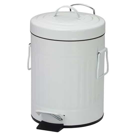 פח אשפה רטרו 3 ליטר צבע לבן מבית SPLASH
