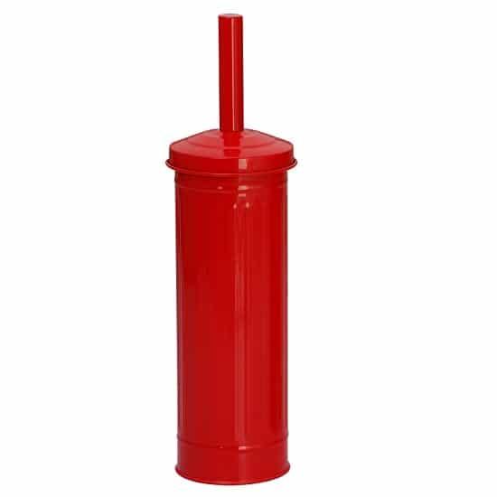 מברשת אסלה רטרו עגולה צבע אדום מבית SPLASH