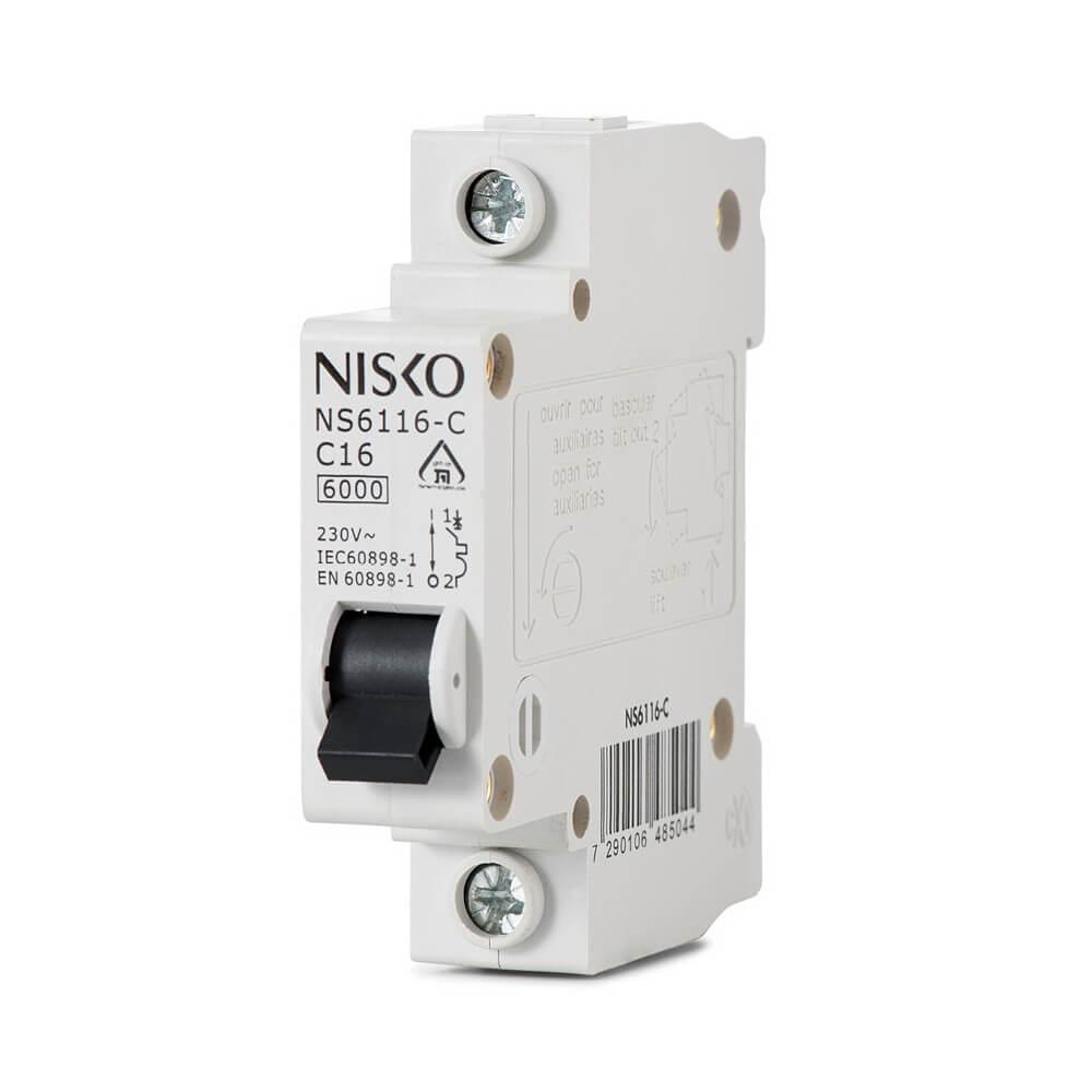 מפסק אוטומטי זעיר ביתי 6KA אופיין C חד פאזי NS6110-C 1P 10A