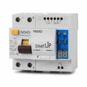 ממסר פחת משולב מנוע NSK240-2 2P 40A 30mA + START UP