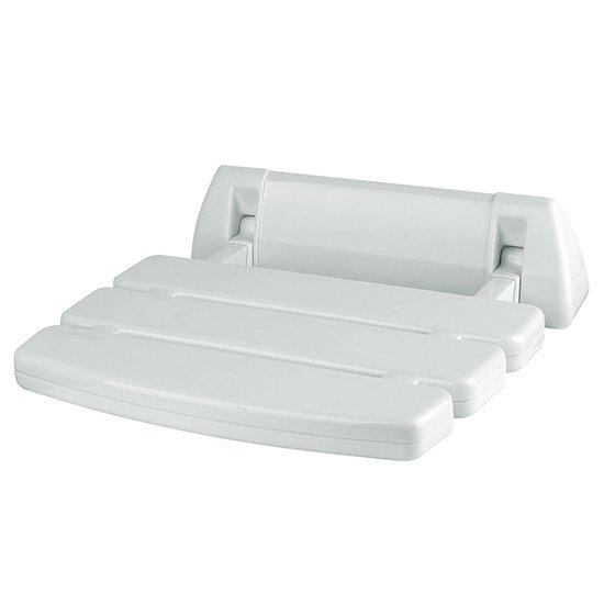 כסא מתקפל למקלחת לבן