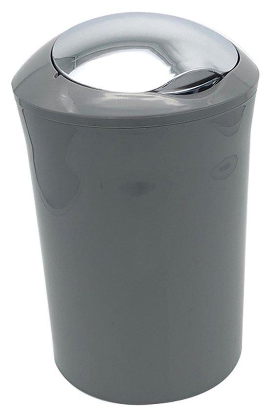 קלאס פח עגול 5 ליטר אפור/כרום