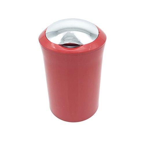קלאס פח עגול 5 ליטר אדום/כרום