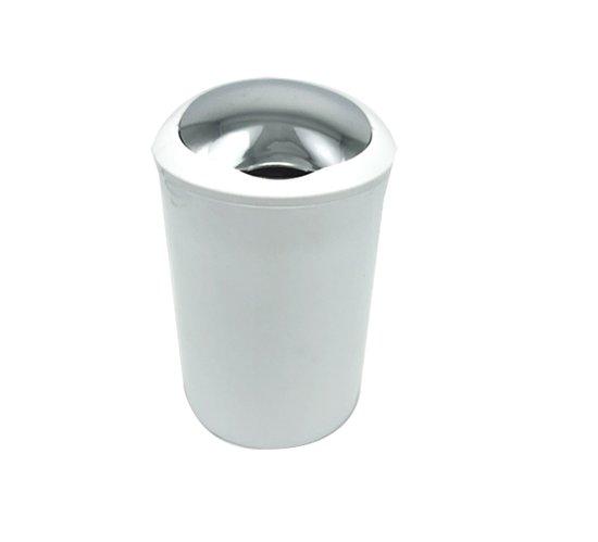 קלאס פח עגול 5 ליטר לבן/כרום