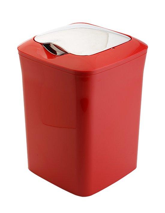 """פח מרובע 5 ליטר """"קלאס"""" אדום/כרום"""
