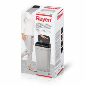 פח אשפה 30 ליטר עם סנסור לפתיחה וסגירה ללא מגע Rayen