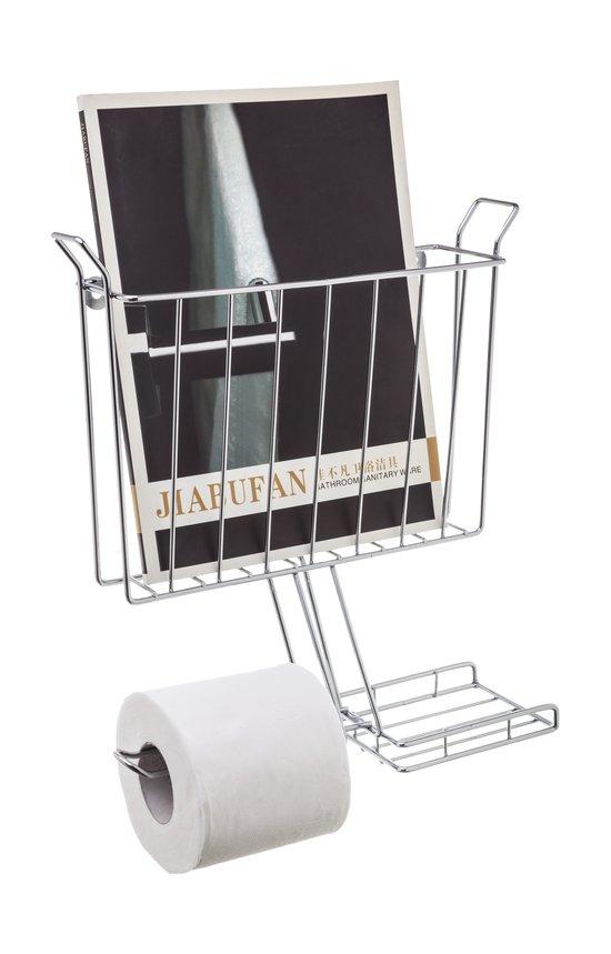 מתקן לנייר טואלט משולב ציפוי כרום