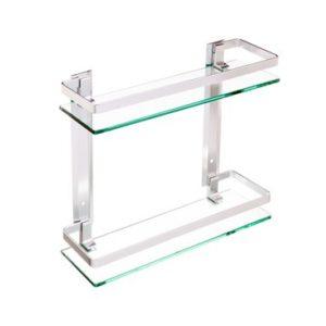 מדף זכוכית 2 קומות popolare