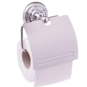 מחזיק נייר טואלט + מכסה cromo