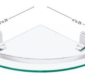 מדף זכוכית פינתי - popolare