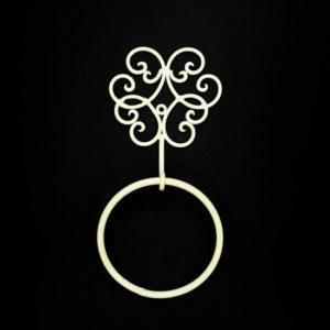 טבעת למגבת - ווינטיג' מסולסל - שמנת
