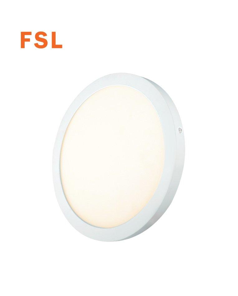 פנל על הטייח עגול 25 וואט קוטר 300 לבן אור חם FS