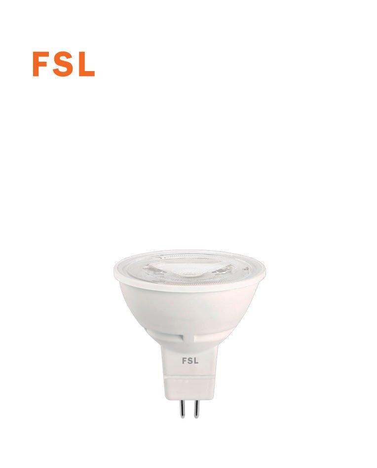 לד  7W COB ACDC 12V MR16  לבן אור יום  60°  FSL