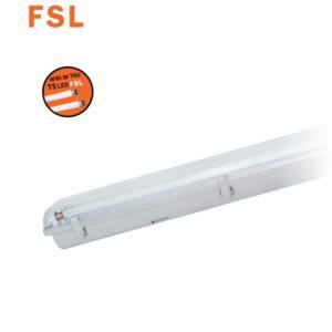 מוגן מים כפול IP65 T5   כולל נורות אור לבן 6500