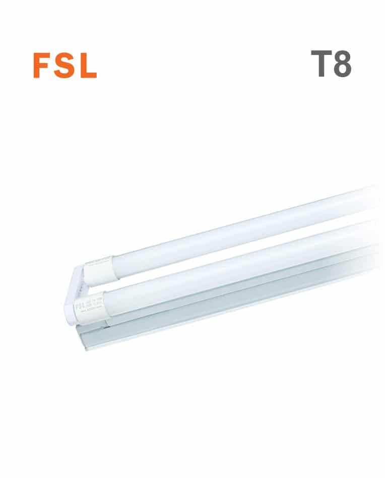 פס אמרקאי  T8  כפול כולל 2X20W אור לבן FSL 1.2M
