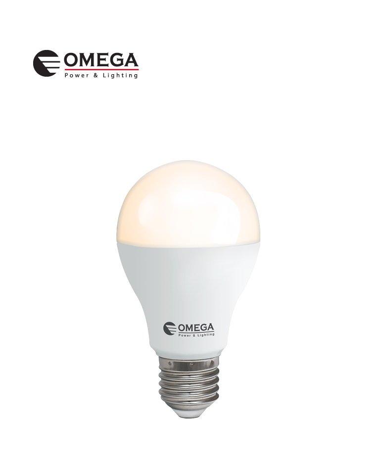 לד 10W  A60 אור חם  אריזת קופסה  OMEGA   E27