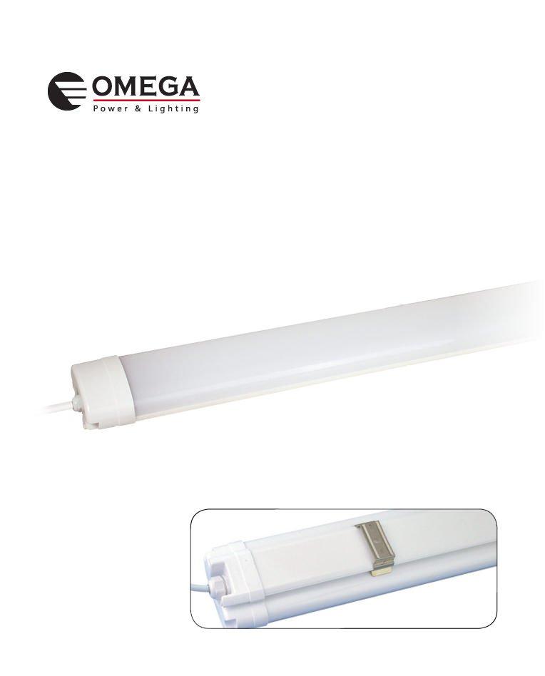 גוף תאורה מוגן מים LED SMD 50W אור יום 6500K  דג