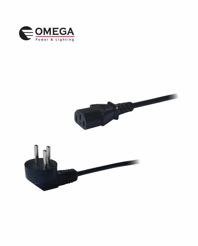 כבל חשמל למחשב 1.2 מטר omega