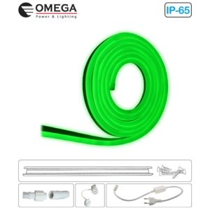 קיט סרט לד NEON 10*20MM ירוק גמיש 12W למטר 220V
