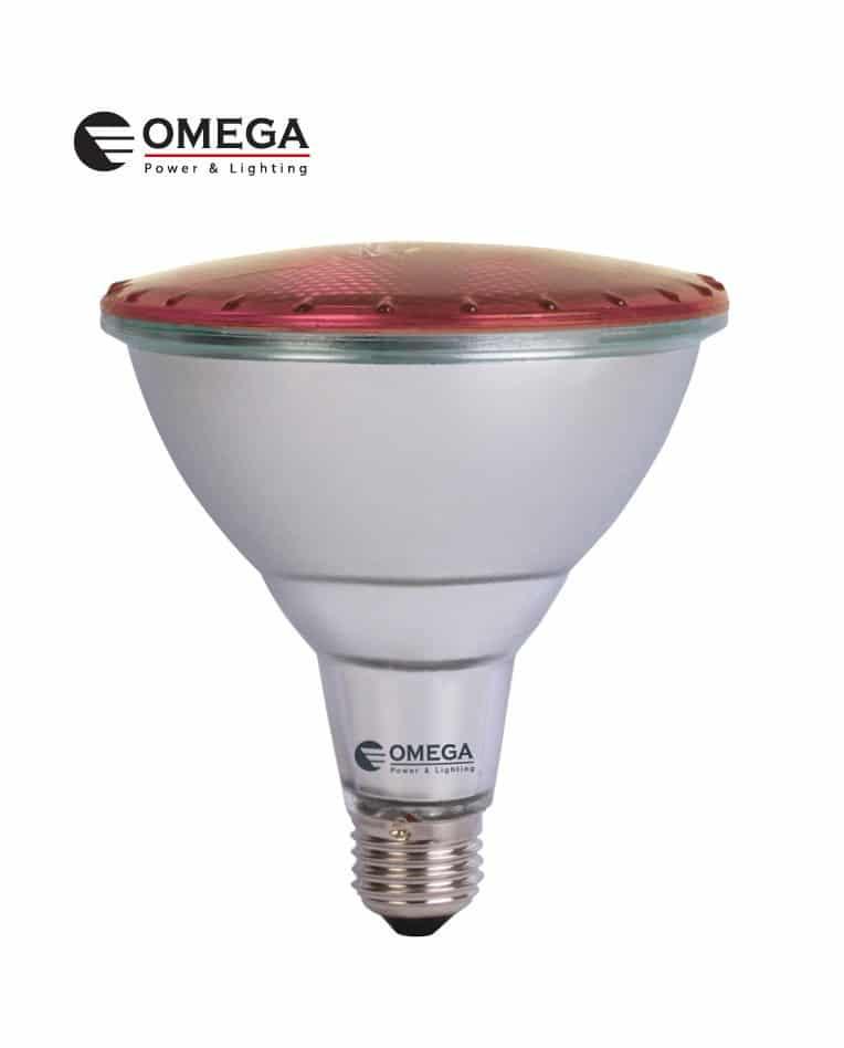 לד 15W PAR38 אור אדום OMEGA 230V IP65