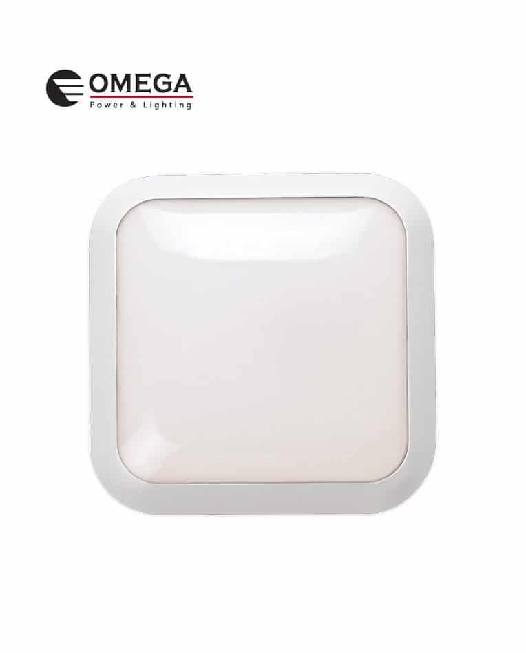 """פלאפון לד מ""""מ IP66 290X290X100 קלאסיק מרובע לבן"""